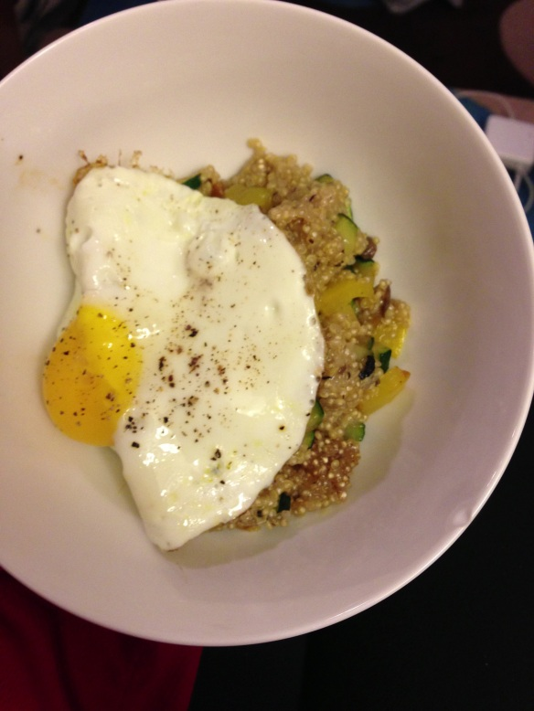 quinoa and eggs